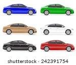 3d car vector | Shutterstock .eps vector #242391754