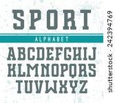rectangular serif font in style ... | Shutterstock .eps vector #242394769
