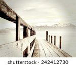 Jetty On Lake Chiemsee  With...