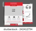 vector flyer  brochure ... | Shutterstock .eps vector #242412754