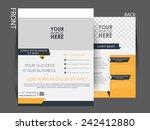 vector flyer  brochure ... | Shutterstock .eps vector #242412880