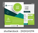 vector flyer  brochure ... | Shutterstock .eps vector #242414194