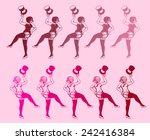 burlesque dancers silhouette ...