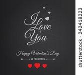 typography postcard happy... | Shutterstock .eps vector #242418223