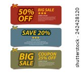 coupon sale  offers and... | Shutterstock .eps vector #242428120