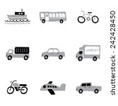 transport logos and icons set   ... | Shutterstock .eps vector #242428450