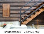 Wooden Stairs With Wooden Window