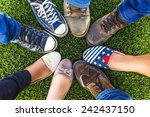 circle shoe teenager for...   Shutterstock . vector #242437150