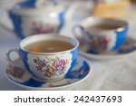 Tea In Vintage Russian Tea Set...