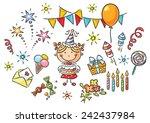 little girl having birthday...
