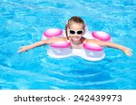 cute smiling little girl in... | Shutterstock . vector #242439973