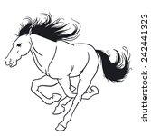beautiful horse. | Shutterstock .eps vector #242441323