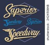 vintage denim typography  t... | Shutterstock .eps vector #242450848