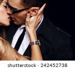 fashion photo of office romance ... | Shutterstock . vector #242452738
