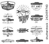 set of car service labels ... | Shutterstock .eps vector #242459740