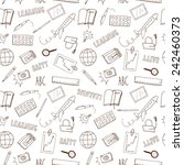 doodle seamless background... | Shutterstock .eps vector #242460373
