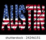 grunge austin text with... | Shutterstock .eps vector #24246151