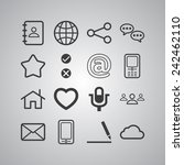 set of simple social icons | Shutterstock .eps vector #242462110