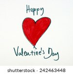 happy valentines day | Shutterstock . vector #242463448