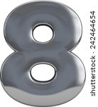 metal number 8  eight ... | Shutterstock . vector #242464654