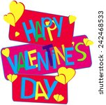happy valentine's day | Shutterstock . vector #242468533