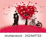 concept of valentine day   two... | Shutterstock .eps vector #242469733