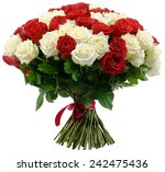 Stock photo bouquet of roses isolated on white 242475436