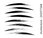 vector set of grunge brush... | Shutterstock .eps vector #242477368