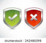 shield set with check marks | Shutterstock .eps vector #242480398