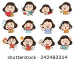 girl acting cartoon | Shutterstock .eps vector #242483314