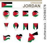 jordan flag collection  12... | Shutterstock .eps vector #242486578