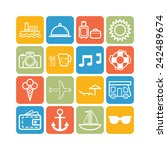 set of simple icons for... | Shutterstock .eps vector #242489674