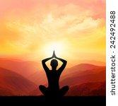 yoga an meditation | Shutterstock . vector #242492488