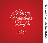 happy  valentine's day greeting ... | Shutterstock .eps vector #242495728