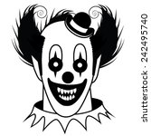 Black And White Creepy Clown...