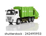 Garbage Truck Toy Isolated On ...