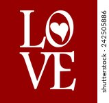 love sign with valentine heart | Shutterstock .eps vector #242505886