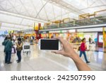 using smartphone in a subway ... | Shutterstock . vector #242507590