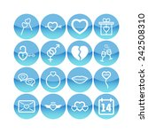 set of simple lovely icons for... | Shutterstock .eps vector #242508310