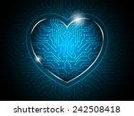 heart circuit abstract... | Shutterstock .eps vector #242508418