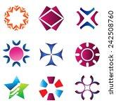 logo element abstract set  | Shutterstock .eps vector #242508760