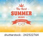 summer typography vector design ... | Shutterstock .eps vector #242522764