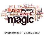 magic word cloud concept with... | Shutterstock . vector #242523550