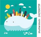 environmental problem ocean... | Shutterstock .eps vector #242530759