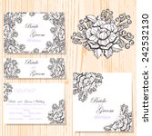 wedding invitation cards with... | Shutterstock . vector #242532130