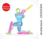 creative abstract cricket... | Shutterstock .eps vector #242532334
