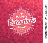 happy valentines day card... | Shutterstock .eps vector #242533084