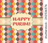 jewish holiday purim vector... | Shutterstock .eps vector #242536576