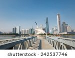 pearl river and modern building ... | Shutterstock . vector #242537746