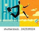 transition to vacation | Shutterstock .eps vector #242539024